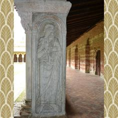 Carving of St Paul in the wonderful cloisters of St Peter's Abbey in the town of Moissac, France. These stunning carvings date back to the eleventh century and together with abbey are a UNESCO world heritage site. #unesco #france #moissac #2015 #chefkevinashton #cloisters #abbey #history