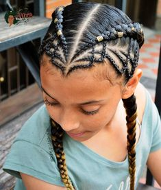 Discover recipes, home ideas, style inspiration and other ideas to try. Two Braid Hairstyles, Black Girl Braided Hairstyles, Girls Natural Hairstyles, Natural Hairstyles For Kids, Baby Girl Hairstyles, African Braids Hairstyles, Two Cornrow Braids, Girl Hair Dos, Tapered Hair