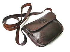 Small dark brown leather purse by WoodBoneAndStone on Etsy, $65.00