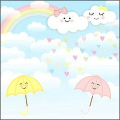 Fiestas Personalizadas Imprimibles: Kit para imprimir Gratis de Lluvia de amor Rainbow Wallpaper, Baby Shower Parties, Girl Birthday, Cake Decorating, Pikachu, Birthdays, Party, Cami, Prints