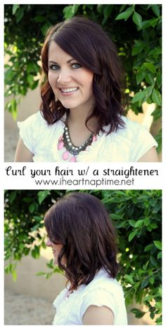 Learn how to curl your hair with a straightener. Tried to do this today after watching my hair stylist do it & totally failed. Hopefully this helps.