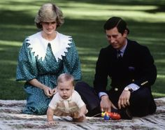Even at nine months old, Prince William was on the move! Proud parents Prince Charles and Princess Diana watch on as the young royal plays on the lawn of the Government House in Auckland, New Zealand on April 23, 1983.