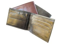 CLASSIC BLACK  a small sized wallet for men by AmielLeatherDesign, $35.00