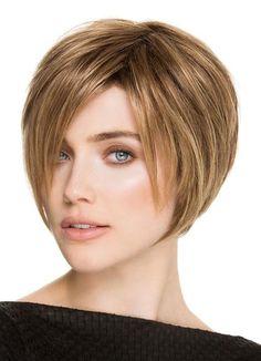 #Milanoo.com - #milanoo.com Flaxen Bob Wigs Short Straight Women's Side Parting Layered Synthetic Hair Wigs - AdoreWe.com