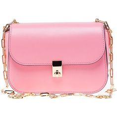 Chain Cross Body Bag (3.110 BRL) ❤ liked on Polyvore featuring bags, handbags, shoulder bags, purses, paradise rose, womenbags, pink shoulder bag, chain shoulder bag, valentino handbags and pink crossbody