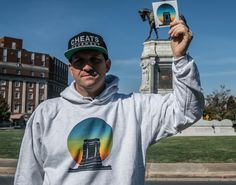 A special edition collaboration between the popular blog The Cheats Movement and award-winning artist Noah Scalin. These hoodies represent a new future in the old capital of the Confederacy. It is our hope that these hoodies will spark artistic dialogue about what the future ca