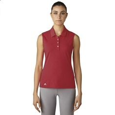 Check out what Lori's Golf Shoppe has for your days on and off the golf course! Red Ladies Essentials Cotton Hand Sleeveless Golf Polo Shirt #lorisgolfshoppe