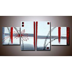 @Overstock - This unique and original hand painted art set is ideal for adding a touch of vibrancy and color to your living space. No frame is needed to hang this exceptional piece on your wall, and with four canvas panels it is bound to make a big impact.http://www.overstock.com/Home-Garden/Hand-painted-Abstract-Canvas-Art-Set/4121697/product.html?CID=214117 $129.99