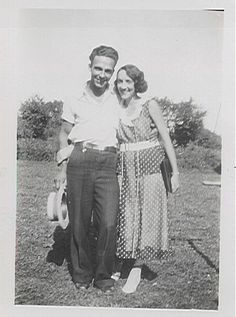 Earl Sparks with wife, Leona Fern Harris Sparks when they were very young and happy.