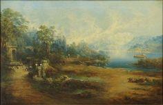 ATTRIBUTED TO JAMES BAKER (J.B.) PYNE (ENGLISH, 1800-1870) MYSTICAL LANDSCAPE : Lot 151-6099 #Baker #Landscape