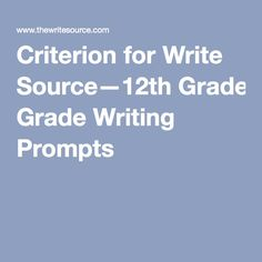"""12th Grade Writing Prompts - This website provides a few interesting writing prompts for senior students. They mainly focus on persuasive and expository writing. Each prompt has an assessment or rubric attached. The prompts can be used for specific lessons or during a """"free write"""" period. I think the prompts are relatable to senior students and get them thinking creatively and expressing their thinking through their writing."""