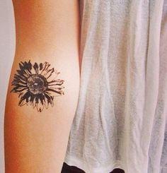 Sunflower Inner Wrist Forearm Tattoo Ideas for Women at MyBodiArt.com