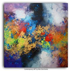 Abstract painting by Alex Senchenko . Contemporary ART .