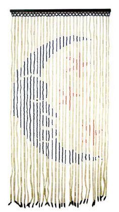 Moon And Stars Bamboo Beaded Curtain Room Divider
