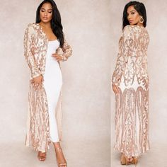 Women Clothing Type: Women Long Coat Dresses Length: Ankle-Length Decoration: Sequined, Pattern Sleeve Style: Regular Material: Polyester, Spandex Style: Sexy & Club style: casual, fashion, outfit