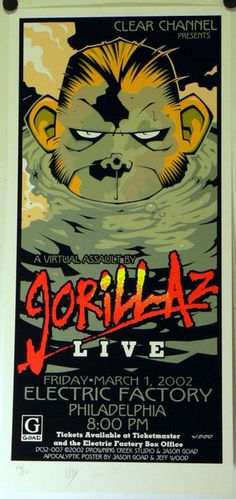 GORILLAZ #design #gig #music #poster