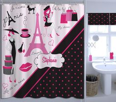 Only $84.00 for this Customized Paris Shower Curtain.