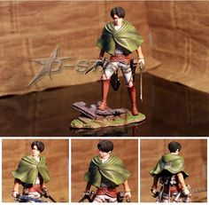 """168.00$  Know more - http://aigmr.worlditems.win/all/product.php?id=1910098073 - """"EMS Shipping 6pcs Cool 8"""""""" Attack on Titan Shingeki no Kyojin Scouting Legion Levi PVC Action Figure Model Collection Toy Gift"""""""