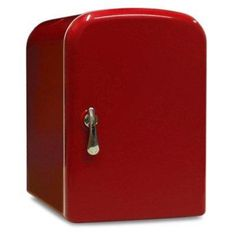 RED MINI FRIDGE COOLER WARMER FOR CAR OFFICE HOME