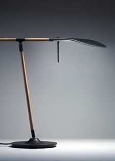 Adjustable table lamp Floor lamp in aluminum and wood Fabbian Paddle