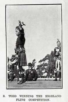 W. ROBINSON IN THE HIGHLAND FLING. Auckland 1 March 1906.
