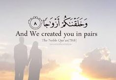 ALLAH has created us in pairs.!!