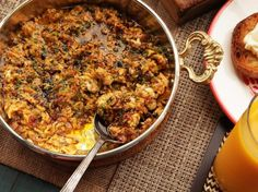 Menemen is a dish of eggs scrambled just until barely set, mixed with tomatoes, chilies, and tons of olive oil.