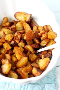 These perfectly seasoned roasted potatoes are the perfect side dish! Everyone loves this easy recipe.