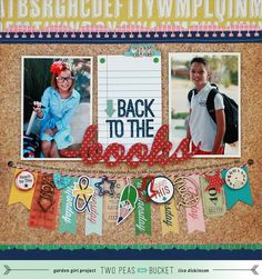 Fall: Back to the Books with Lisa Dickinson | Autumn layout by Lisa Dickinson