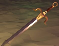 Low Poly Mesh Scene – Capricorn Sword (Animation + Pic)Created on with Blender Asset – Game Development – Digital ArtAn another low poly sword, but now more complex with a capricorn handle. 3d Software, 3d Assets, Blender 3d, Different Textures, Low Poly, Capricorn, New Work, Sword, Mesh