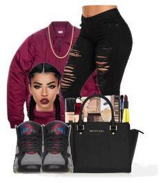 """""""Bordeaux7's"""" by ballislife ❤ liked on Polyvore featuring Giani Bernini, MICHAEL Michael Kors and Lime Crime"""
