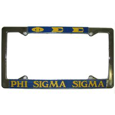 Phi Sigma Sigma Sorority License Plate Frame $14.95 #Greek #Sorority #Accessories #PhiSig #PhiSigmaSigma #LicensePlate #Frame