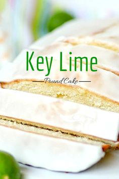 Key lime pound cake -- so moist and zippy. The glaze on top is perfect! Perfect Spring cake recipe.