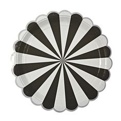 Black and White Stripe Party Plate by MeriMeri at www.theoriginalpartybagcompany.co.uk