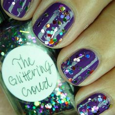 The Glittering Crowd by Lynnderella over Rescue Beauty Lounge Mismas, a vibrant purple :).