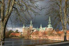 Frederiksborg Slot, tidligere kongeslot i Hillerød nord for København