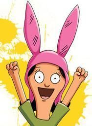 Louise Belcher of Bob's Burgers <3 - This is the scene when Nimby returns from a week out of town.