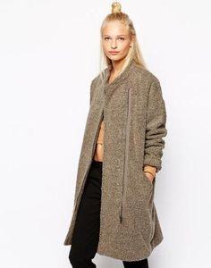 monki fleece jacket  beige #winter #outdoor #jacket #monki #fleece #covetme