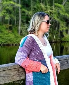 Crochet Colorblock Cardigan - Free Pattern by Croyden Crochet