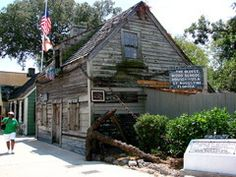 St. Augustine, Florida~Oldest wooden schoolhouse. Find it walking the streets of the old city.