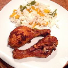 Fried Chicken w/ White rice & Bell peppers