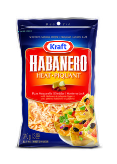 Kraft Habanero Heat Shredded Cheese - Kraft First Taste Canada. This really does spice up whatever dish you add it to. Smokin Good!