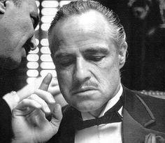 """Marlon Brando en la  película """"El Padrino"""", con su característico bigote #Moustache #cinema #cine"""