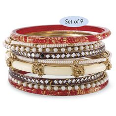 Set of 9 Bangle Bracelets - Gifts for Life's Special Moments – Personalized, Humorous & Collectible