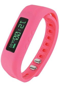 Supersonic SC-62SW PINK Bluetooth® Smart Wristband Fitness Tracker