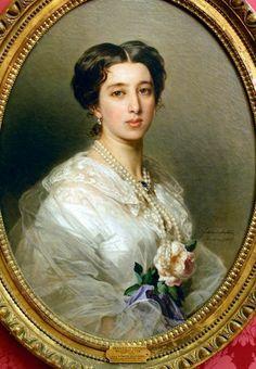 Princess Lina Gourieff Gagarine by Winterhalter - Category:Female portraits by Winterhalter - Wikimedia Commons