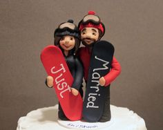 Snowboard Cake Topper Custom Snow Board of by CherryRedToppers