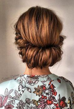 Classic bridal updo,classic wedding chignon,chignon,twist updo hairstyles,wedding hairstyle ideas