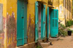 Travel - Doors on Ile de Goree, Senegal - Africa