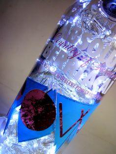 Luminária de garrafa ABSOLUT VODKA